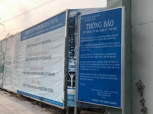 Khách hàng nguy cơ trắng tay khi xuống tiền vào Khu đô thị Tân Phú