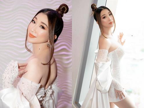 Hoa hậu Ngọc Liên diện đầm cúp ngực gợi cảm dự sự kiện
