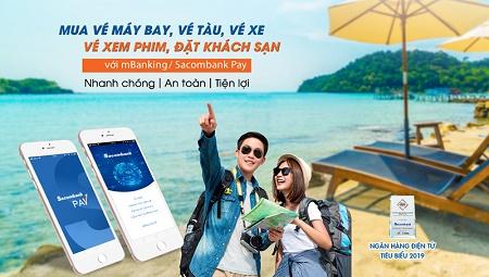 Đặt vé xe và mua bảo hiểm phi nhân thọ trực tuyến trên ứng dụng Sacombank mBanking