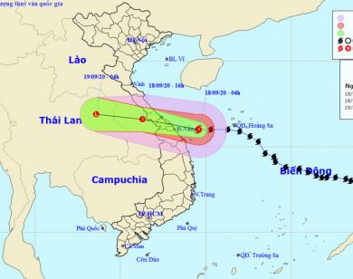 Bão số 5 áp sát từ Quảng Bình đến Quảng Nam, gió giật cấp 12