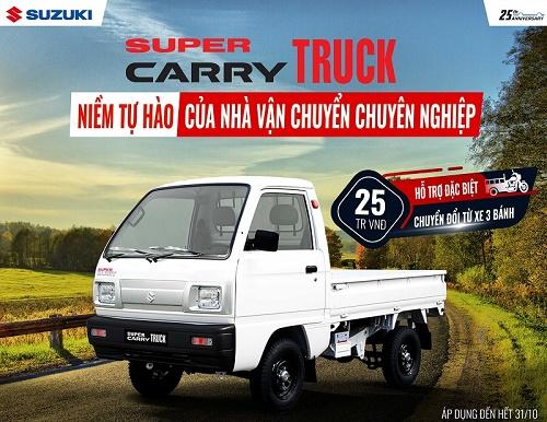 Suzuki tối ưu chi phí sửa chữa, bảo dưỡng cho các dòng xe tải nhẹ
