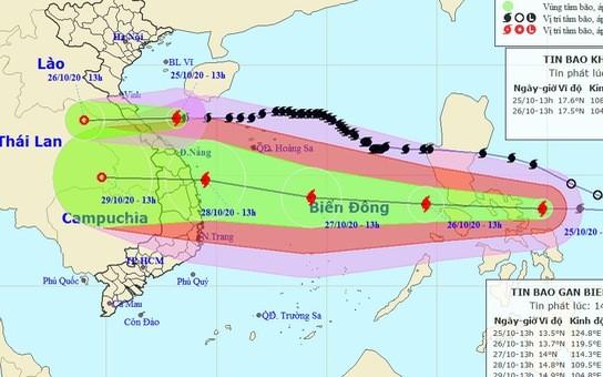Bão Molave giật cấp 15 chồng bão số 8 vào miền Trung