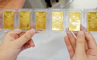 Giá vàng trong nước sáng 5/1 tiếp tục tăng, lên sát 57 triệu đồng/lượng