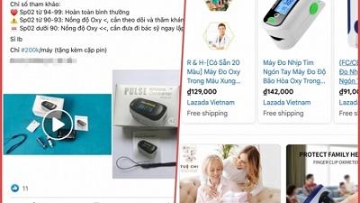 """Máy đo oxy giá bèo nhan nhản """"chợ mạng"""", Bộ Công Thương cảnh báo"""
