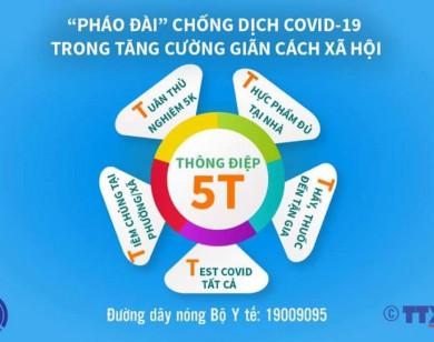 Bộ Y tế công bố thông điệp ''5T'' tới người dân