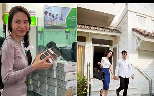 """Trước lùm xùm """"sao kê"""", Thủy Tiên từng khoe Công Vinh đầu tư BĐS lãi 5 – 6 lần, vài tháng đưa vợ hơn 40 tỷ để tiêu vặt"""