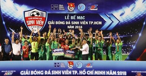 Giải bóng đá Sinh viên TP. Hồ Chí Minh năm 2018 - Cúp vô địch thuộc về ĐH Tôn Đức Thắng