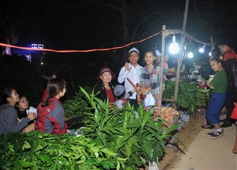 """Hơn 10.000 người chen chân hái """"lộc""""đầu năm tại lễ hội Chợ Đình Bích La"""