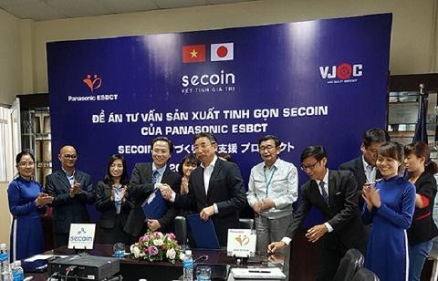 Lễ ký kết Đề án Tư vấn Sản xuất Tinh gọn của Viện Giáo dục Đào tạo Panasonic ESBCT (Nhật Bản) đối với hệ thống sản xuất của Secoin