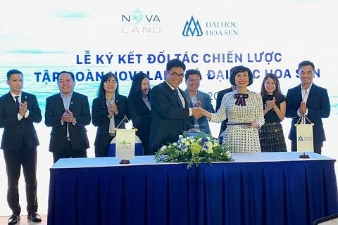 NovaLand hợp tác chiến lược với đại học Hoa Sen và công ty Hải Âu