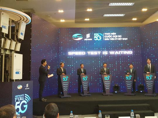 Viettel thực hiện cuộc gọi 5G đầu tiên tại Việt Nam, sử dụng công nghệ Ericsson