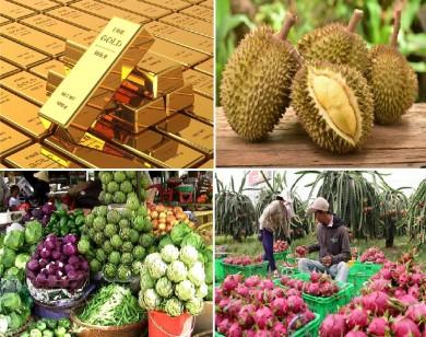 Tiêu dùng trong tuần: Giá vàng và thực phẩm tăng mạnh, trong khi trái cây rớt giá